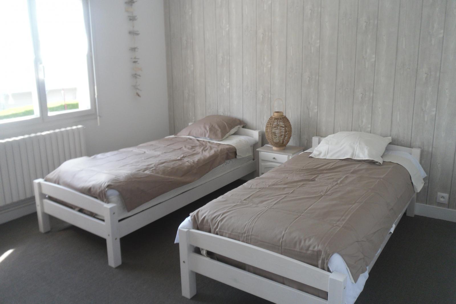 Image n°10 du gîte de mer : Chambre avec 2 lits de 90