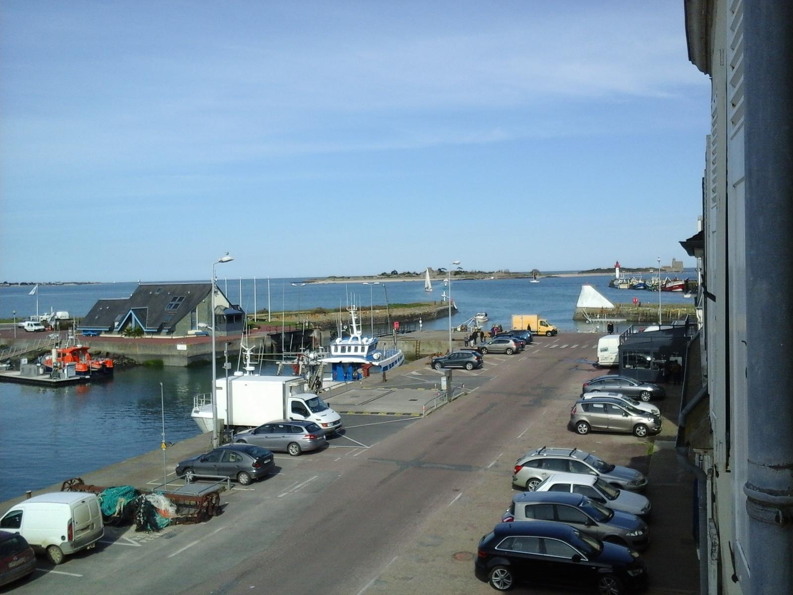 Image n°11 du gîte de mer : Vue depuis le gîte. Au fond le fort de la Hougue