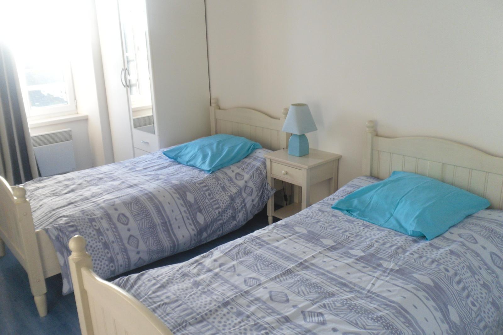 Image n°8 du gîte de mer : Chambre avec 2 lits de 90